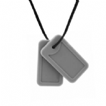 Dog Tag Necklace - 'Trooper'- Grey - Chewigem